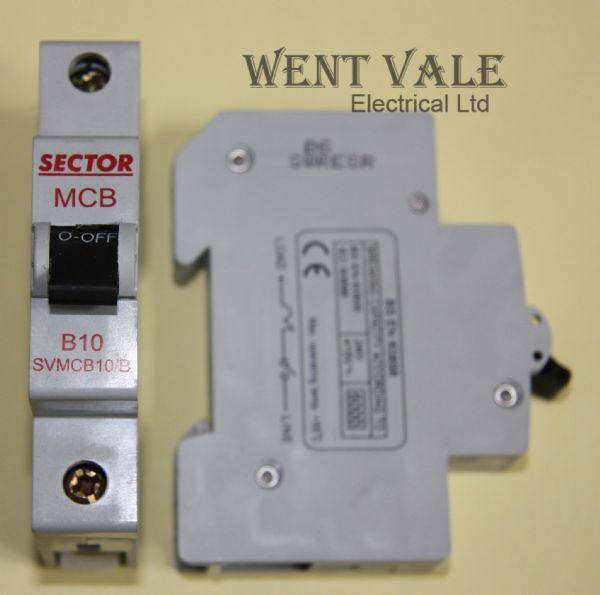 Sector SVMCB10/B - 10a Type B Single Pole MCB New